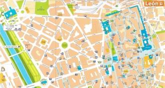 Plano callejero de León - EntreVias Lodging