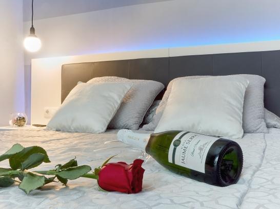Detalle romantico en EntreVias Lodging